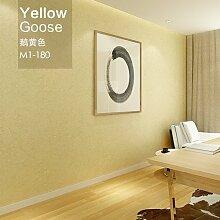 loaest Vliestapete Minimalist Modern mit Uni Farbe Raum Tapete, gelb