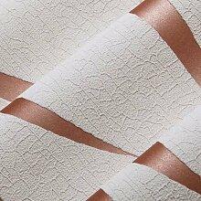loaest Vliestapete Streifen Modern für TV Hintergrund geprägt Wildleder Wave Leder für Wände 3D Wand Fototapete Papier PEINT