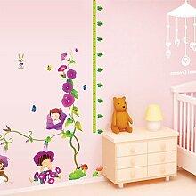 Loaest Wall Sticker Kinder Petunia Niedlichen Baby Zimmer Wand Dekoration Malerei Skala Höhe Einfügen Können Entfernt Werden.