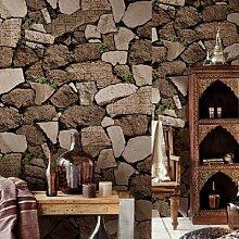Loaest Wasserdicht Brick Stein Tapete Rollen für Wohnzimmer Vinyl 3D-Tapeten Home Decor Papel de Parede 3D Wall Paper, Bronzing 50662, 53cmx10M