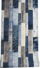 LoaiZh Holz Tapete Für Wände 3D Blau/Braun Vinyl