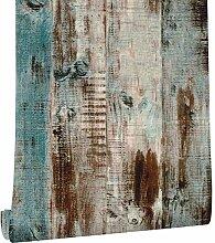 LoaiZh Vintage Faux Holz Tapete Für Wand 3D