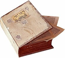 Loberon Buchschatulle Bouquin, Wohn-Accessoires,