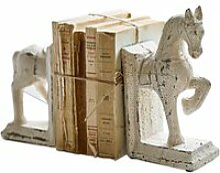 LOBERON Buchstütze 2er Set Horses, creme (7.5 x