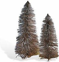 Loberon Deko-Bäume 2er Set Woodrow, 100% Flachs,