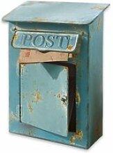 LOBERON Deko-Briefkasten Boîte Postale, antikblau
