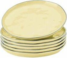 LOBERON Dessertteller 6er Set Biarré, gelb (2cm)