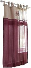 LOBERON Gardine Gratot, rot/creme (140 x 250cm)