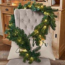 Loberon Girlande Monetry, Weihnachtsbeleuchtung,