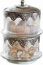 LOBERON Glasdose Leesha, Küchen-Accessoires, Aufbewahrung, klar/silber