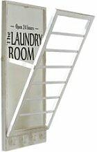 LOBERON Handtuchhalter Laundry Room, antikweiß (6