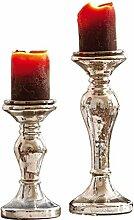 Loberon Kerzenständer 2er Set Pauline, Windlicht,