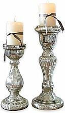 Loberon Kerzenständer 2er Set Rémy, Windlicht,