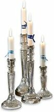 LOBERON Kerzenständer 4er Set Selby, silber