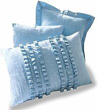 Loberon Kissen 3er Set Saba, Wohn-Accessoires, 50% Baumwolle 50% Leinen, LxB ca. 40x60 cm, blau