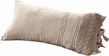 LOBERON Kissenhülle Gracie, Wohn-Accessoires, 60% Leinen, 40% Baumwolle, LxB ca. 30x60 cm, beige
