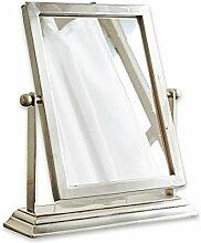 Loberon Kosmetikspiegel Beau, Messing/Spiegelglas,