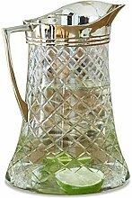 Loberon Krug Meloisey, Glas, Messing, H/Ø 24/16