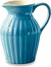 LOBERON Krug Tobe, Porzellan, H/B/T ca. 20/21/14 cm, Küchen-Accessoires, blau