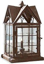 Loberon Laterne Manor House, Eisen/Glaseinsätze,