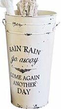 LOBERON Schirmständer Rain, antikweiß (60cm)