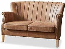 LOBERON Sofa Brookfield, braun (77 x 126 x 76.5cm)