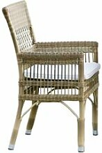 LOBERON Stuhl mit Armlehne Taunton, braun/creme