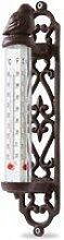 LOBERON Thermometer Binyamin, braun (5 x 9 x 26cm)