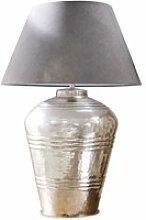 LOBERON Tischlampe Sybell, grau/antiksilber (66cm)