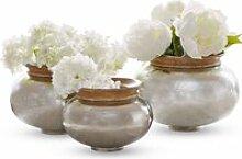 LOBERON Vase 3er Set Delmas, silber/braun