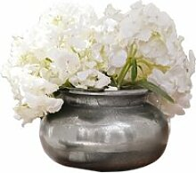 LOBERON Vase Hadrien, antiksilber (10cm)
