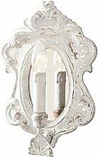 Loberon Wandlampe Blanche, Eisen, Spiegelglas,