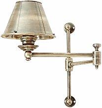 Loberon Wandlampe Francine, Messing, Kunststoff,