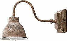 Loberon Wandlampe Iggy, Eisen, H/B/T 18/12 / 31,5