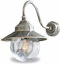 Loberon Wandlampe Miel, Messing, Glas, H/B/T 24/28