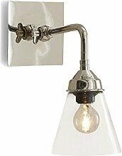 Loberon Wandlampe Millie, Messing, Glas, H/B/T