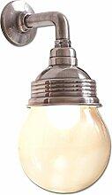 Loberon Wandlampe Rubi, Messing, Glas, H/T 30/18