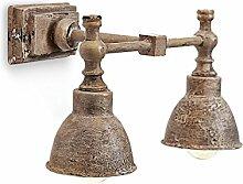 Loberon Wandlampe Twin, Eisen, H/B/T 24/37 / 18