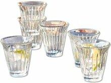 LOBERON Wasserglas 6er Set Lesly, klar (9.5cm)