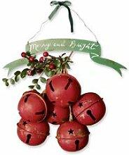 LOBERON Weihnachtsdeko 2er Set Tesson, rot/grün