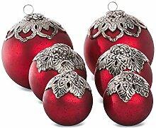 Loberon Weihnachtsschmuck 6er Set Valyn,