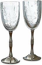 LOBERON Weinglas 2er Set Mérial, klar/silber