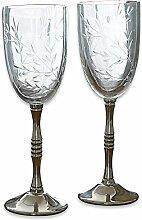 LOBERON Weinglas 2er Set Mérial klar/silber