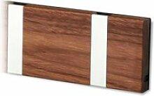 LoCa - Knax 6 Garderobenleiste, Walnuss / grau