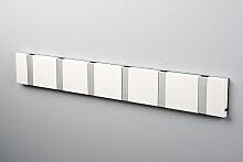 LoCa KNAX 6 Weiss Garderobenleiste mit 6 Haken