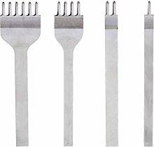 Loch Stanzen Werkzeuge - TOOGOO(R) Set 4 Stk. Lederverarbeitung DIY Leder Handwerk Werkzeuge Loch Stanzen Naehte Punch Werkzeug Set Stift 4mm