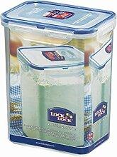 Lock & Lock Frischhaltedose, Vorratsbox, Vorratsdose, 1,8 Liter rechteckig, hoch, 151 x 108 x 185 mm, transparen