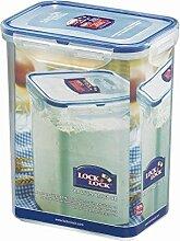 Lock & Lock Frischhaltedose, Vorratsbox, Vorratsdose, 1,8 Liter rechteckig, hoch, 6 Stück,  151 x 108 x 185 mm, transparen