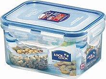 Lock & Lock Frischhaltedose, Vorratsdose, transparent, 470 ml, rechteckig, 3 Stück, 135 x 102 x 68 mm