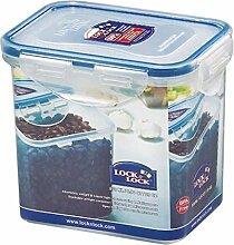 Lock & Lock Frischhaltedose, Vorratsdose, transparent, 850 ml, rechteckig, 6 Stück, 135 x 102 x 118 mm